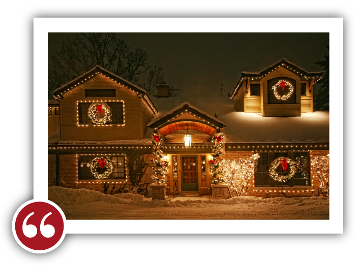 Chicago Light Up Your Holidays Reviews Testimonials - Julie B. | Lincolnwood, Illinois