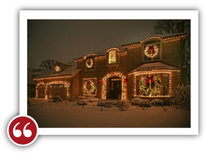 Chicago Light Up Your Holidays Reviews Testimonials - Marge K. | Kenilworth, Illinois