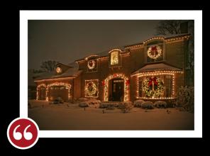 Chicago Light Up Your Holidays Reviews Testimonials - Marge K. | Kenilworth, Illinois