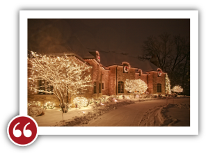 Chicago Light Up Your Holidays Reviews Testimonials - Monica T. | Hinsdale, Illinois